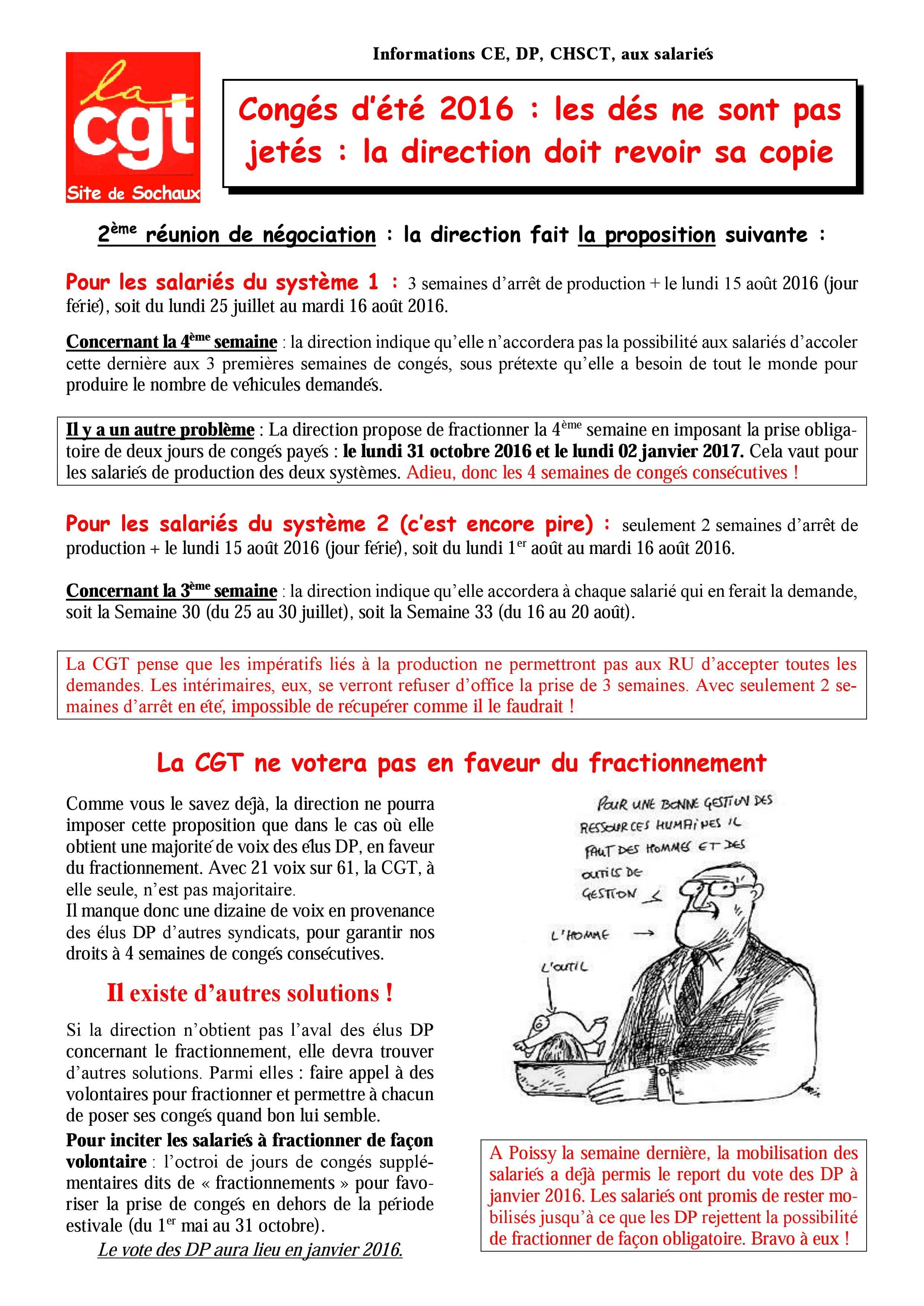 Tract De La Semaine 51 Conges D Ete 2016 Et Derniers