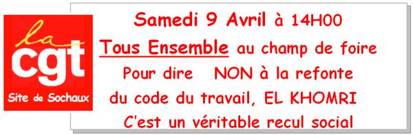 Tract 2016 S14 Samedi 9 Avril A 14h00 Non A La Refonte Du