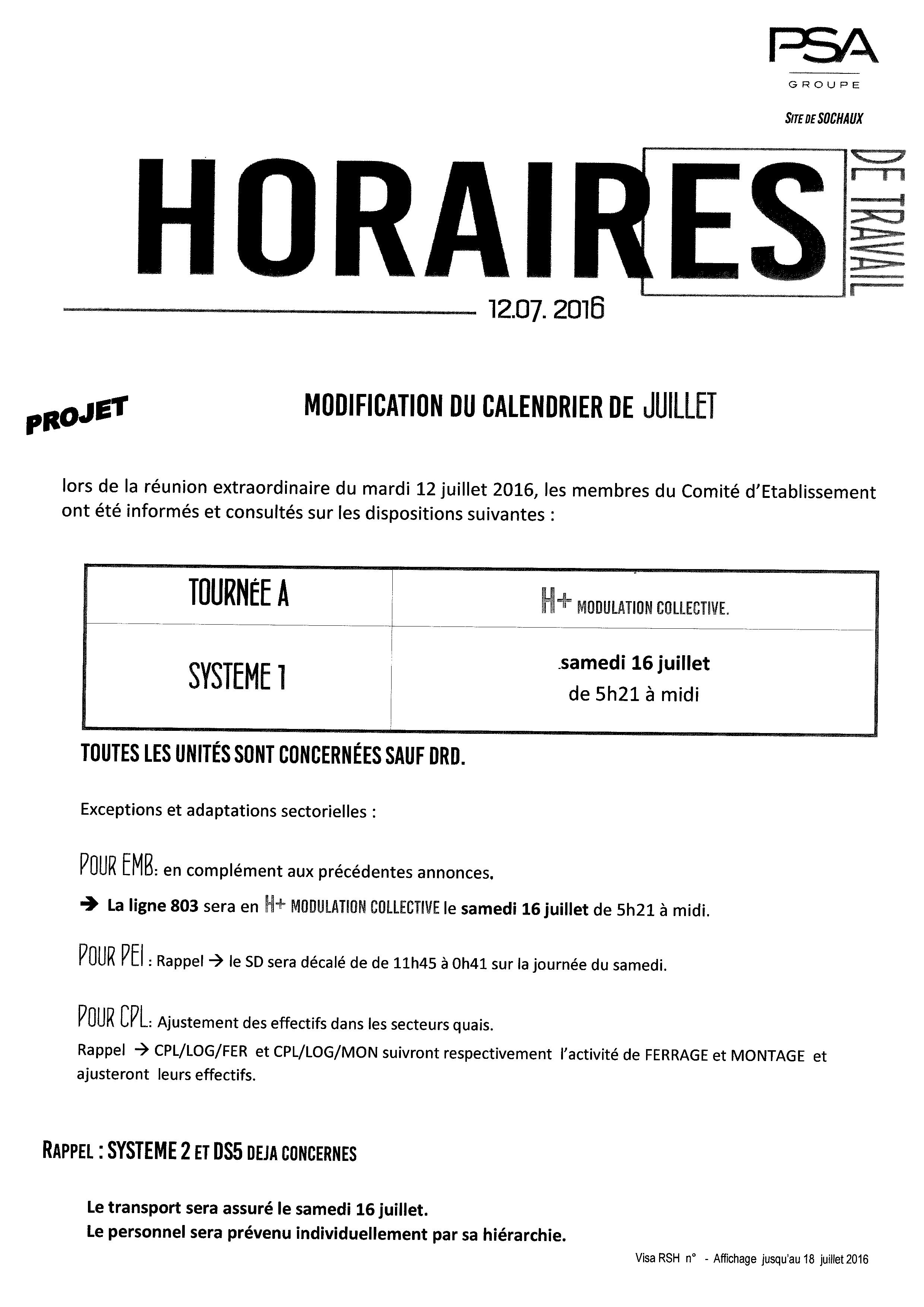 Note horaire 12-07-16