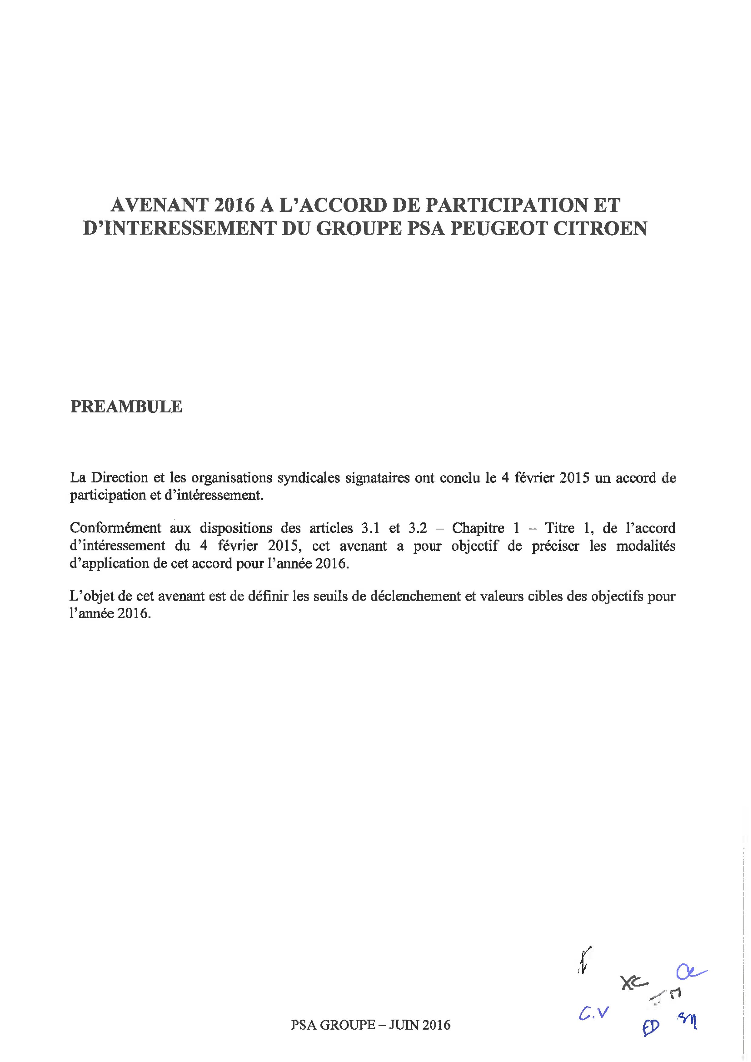 Avenant 2016 à l'accord de participation et d'interessement _01