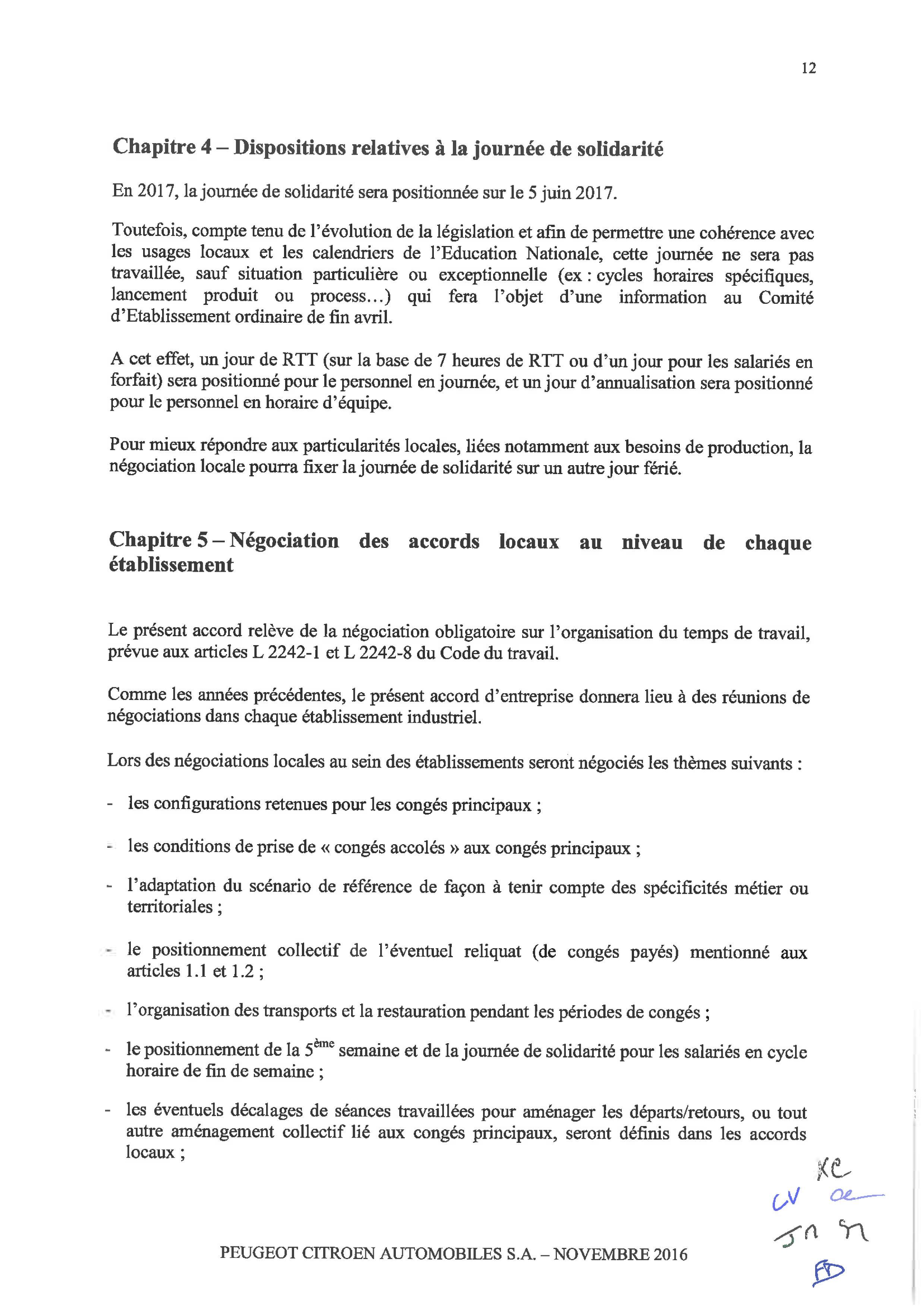 Accord D Entreprise Portant Sur La Duree Effective L Organisation