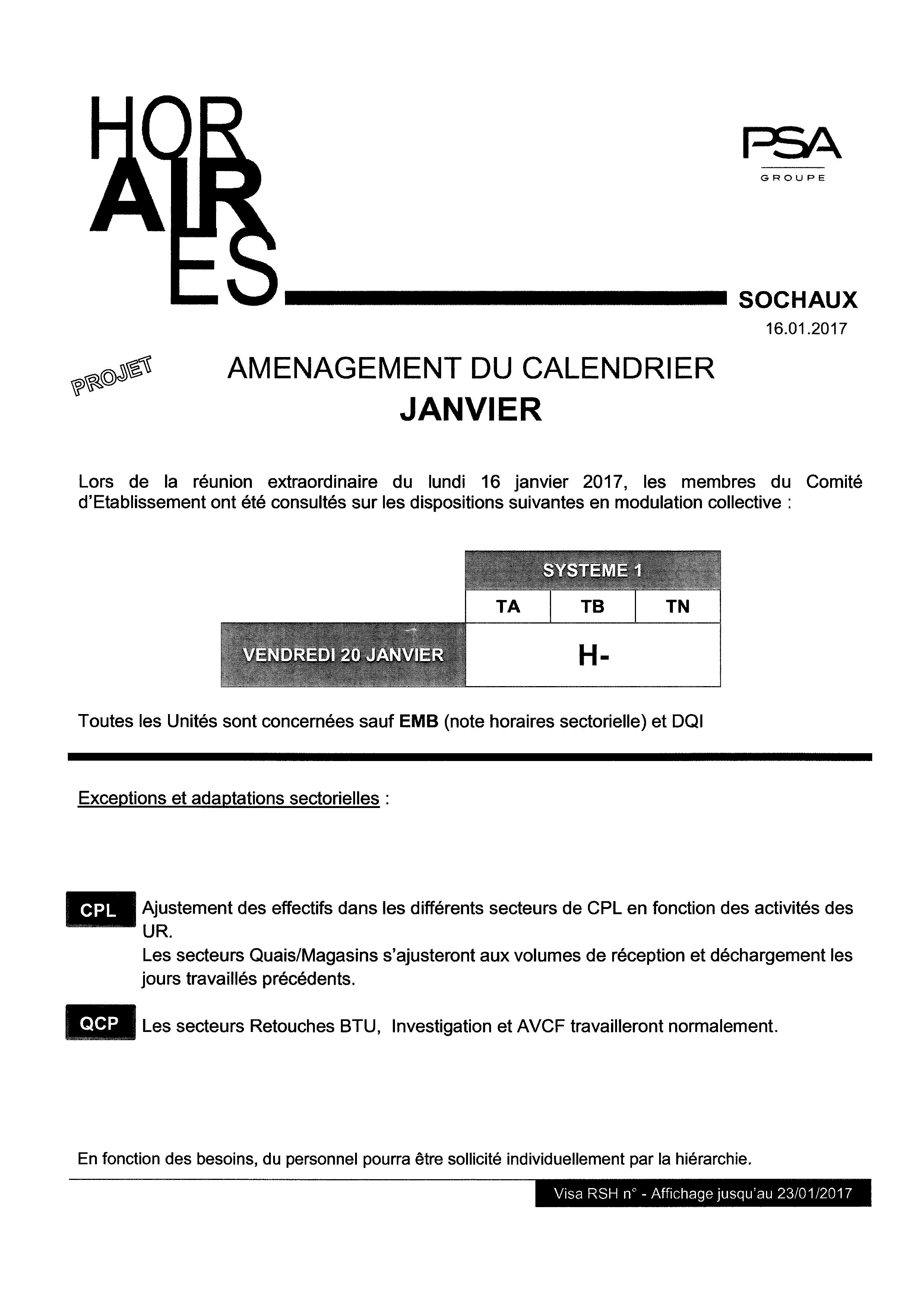 Note horaire 16-01-17