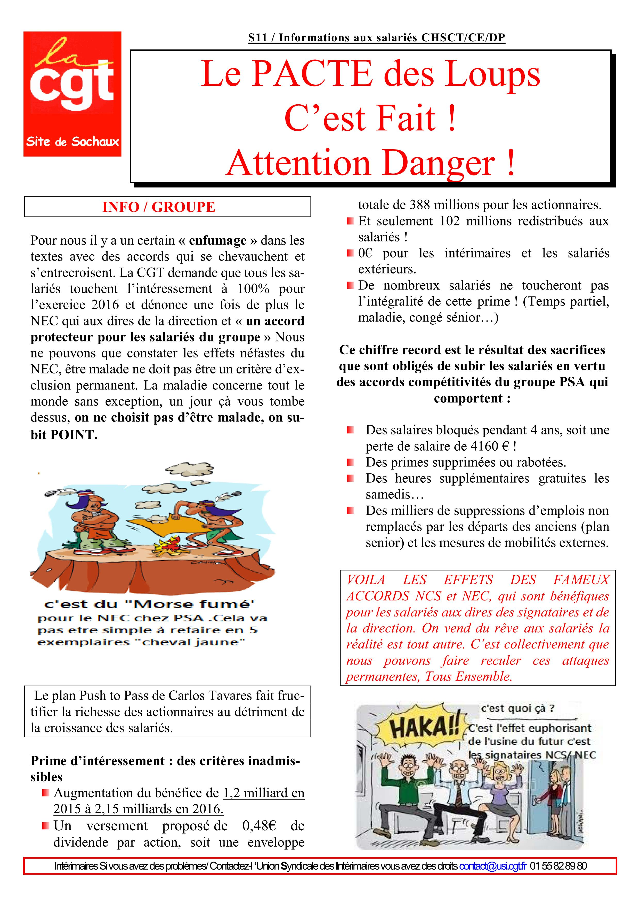 Tract 2017 S11 Le Pacte Des Loups Cest Fait Attention
