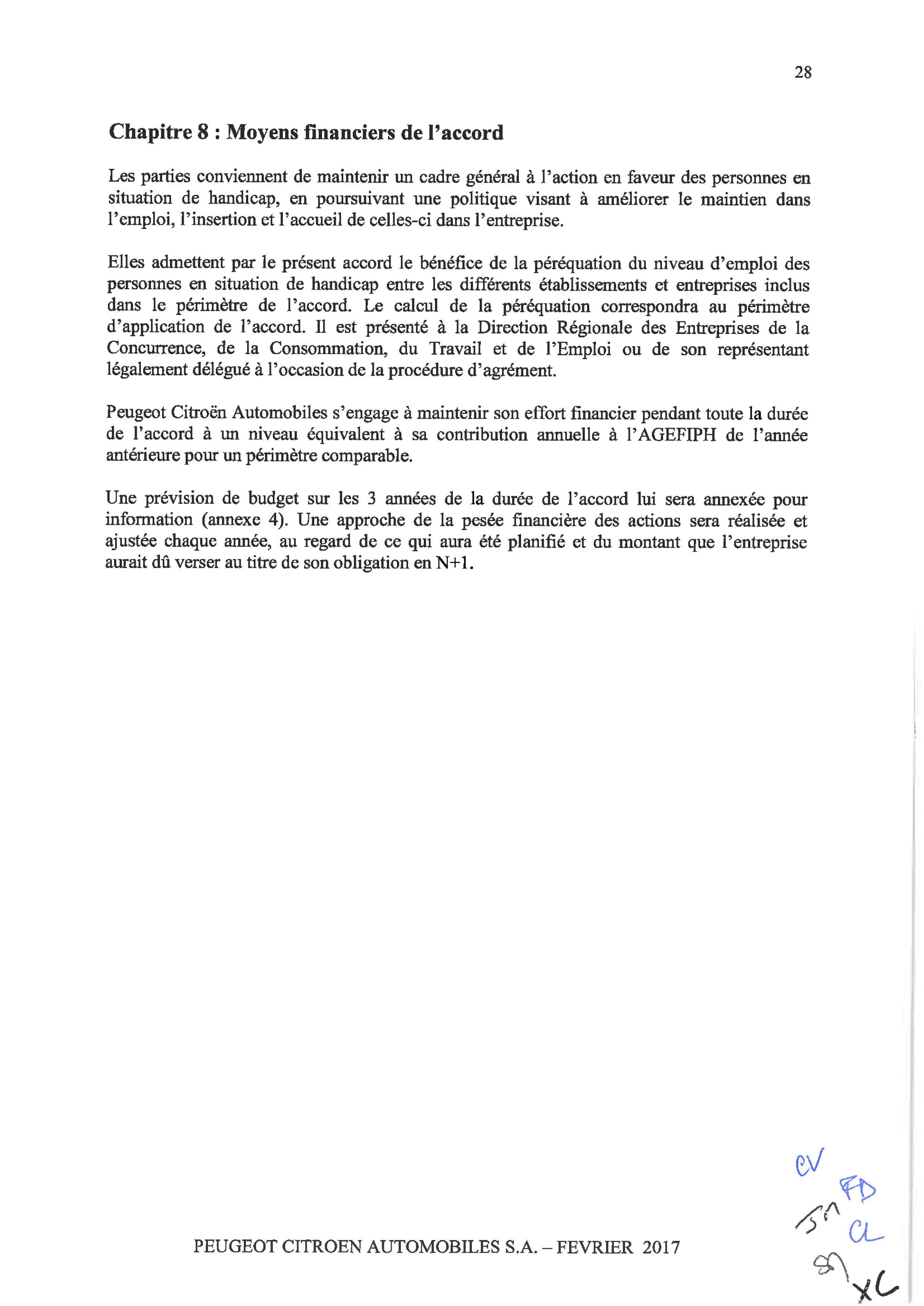 Accord Sur Linsertion Sociale Et Professionnelle Des Personnes