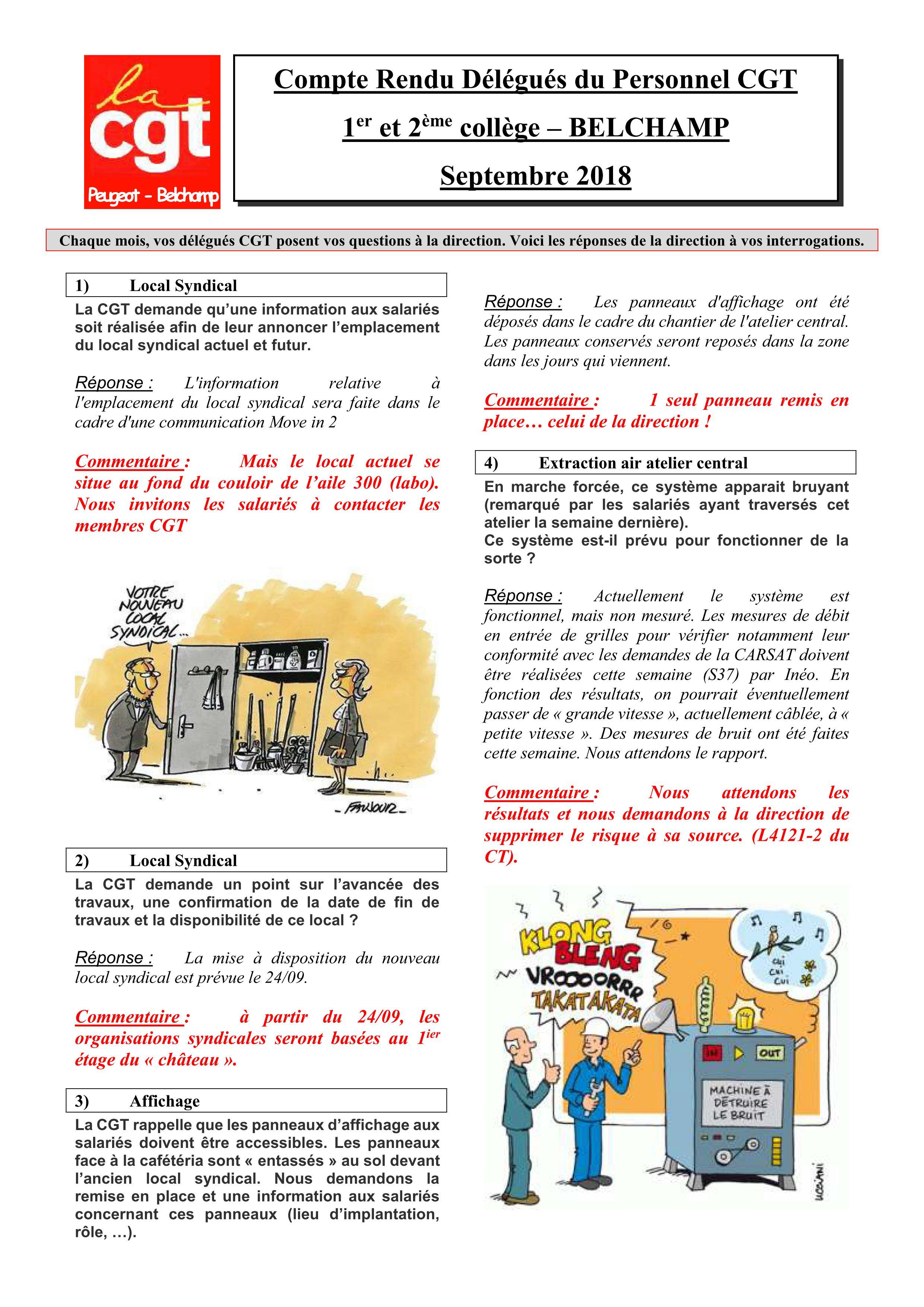 Tract 2018 Section Belchamp Compte Rendu Des Delegues Du